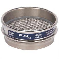 """3"""" Sieve, All Stainless, 一半的高度, No. 16"""